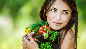 овощи и  здоровые  волосы