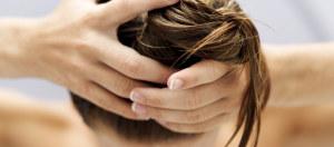 распределение масла по длине волос