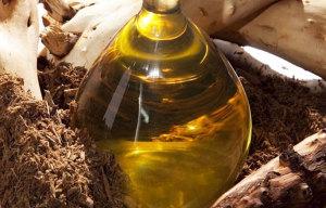 корень лопуха и растительное масло