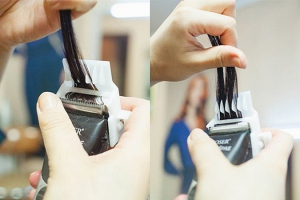 Обработка волос насадкой