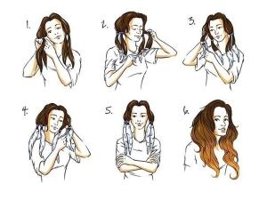 Этапы покраски кончиков волос
