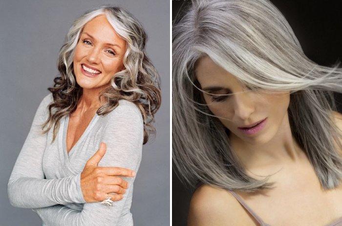 В какой покрасить седые волосы
