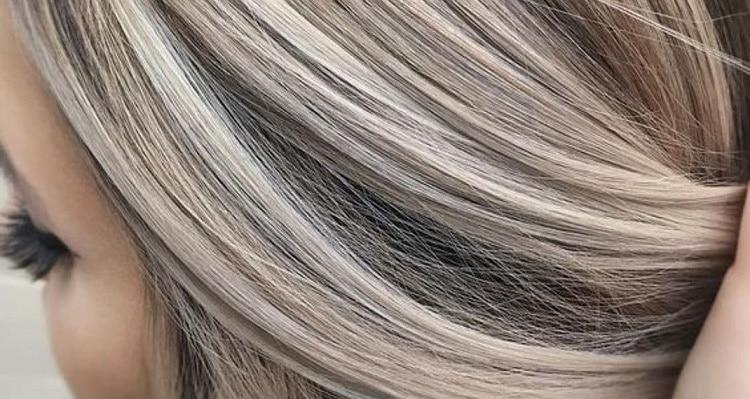 Мелирование на седые волосы