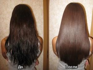 В контакте кератиновая волос