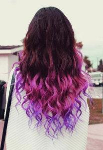переход  от розового к  фиолетовому