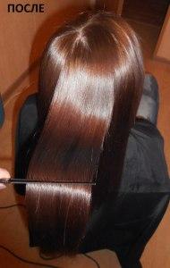 средство дял выпрямления волос