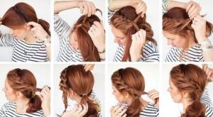 прическа легкая коса пошагово