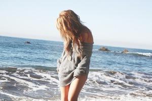 волосы и море