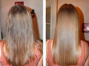 Эффект применения масле для волос