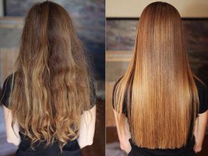 Достижение эффекта разглаживания волос