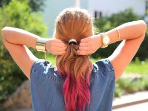 Покраска кончиков волос