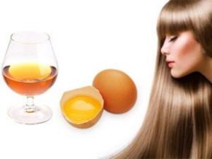 Маска для волос с коньяком и куриным яйцом
